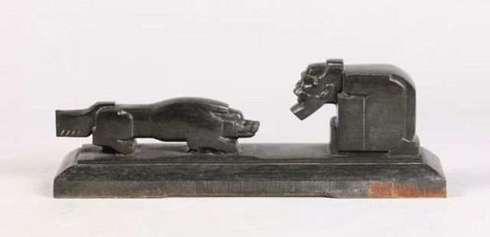 ▲《东郭先生》花岗岩 63cm×14cm×20cm 1963年