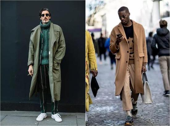 喜欢带点军风的朋友那就选用一件军绿色的外套吧!