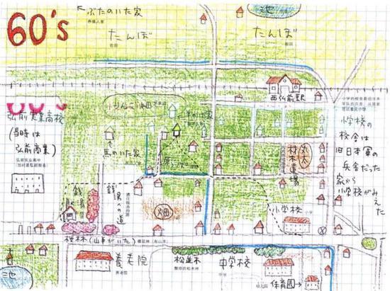 奈良美智的记忆地图,60年代的家乡