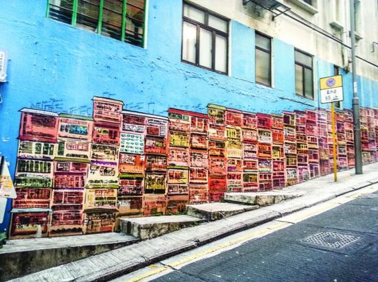"""香港热门打卡""""网红墙""""。"""