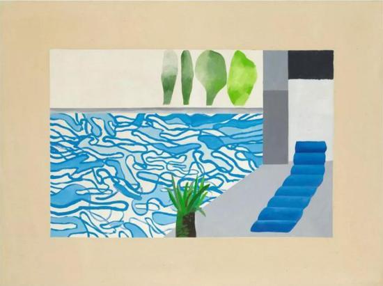 霍克尼泳池系列亮相纽约当代艺术晚拍