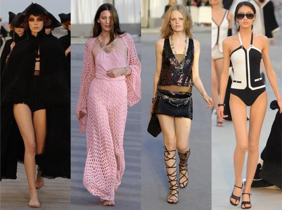 图一 Chanel 2010度假系列图二、三 Chane2011度假系列图四Chanel2012度假系列