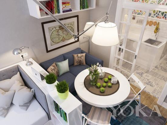 也有小型的待客空间 图片来自home-designing.com