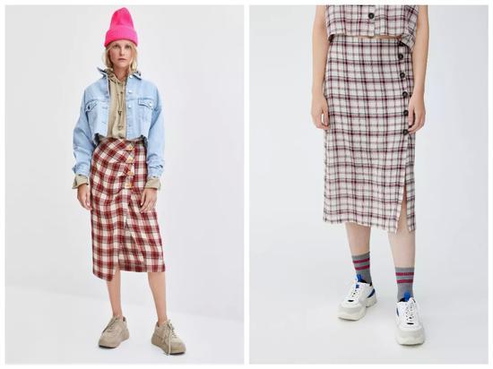 左边Zara,售价¥279;右边PB,售价¥219