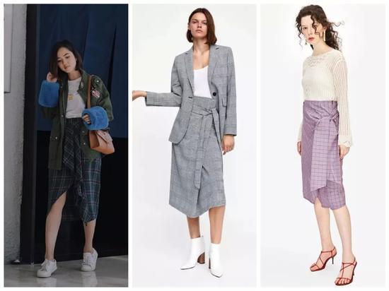 中间Zara,售价¥399;右边UR,售价¥259