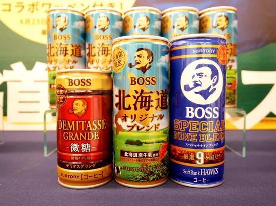 从左至右分别是日本东北、北海道和九州地域限定咖啡