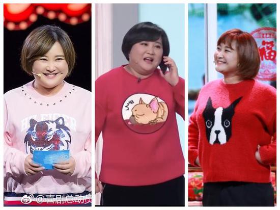 图片来源/央视春晚官微、《喜剧总动员》官微、贾玲微博截图