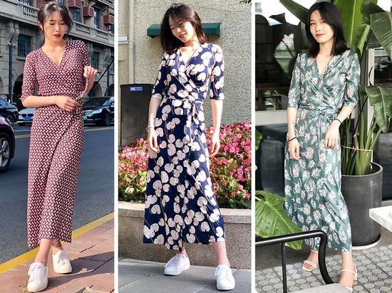 时髦又显瘦的裹身裙 穿上充满法式风情