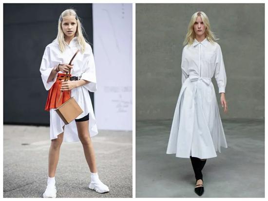 春季最前卫的混搭组合 非裙子+裤子莫属
