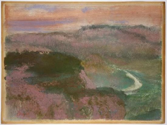 德加《风景》1892 纸本作品
