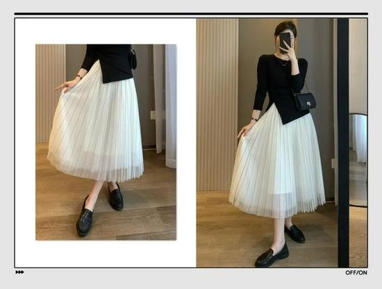 今秋的腰细腿长,都是百褶裙给的,3种搭配轻松穿出优雅气质