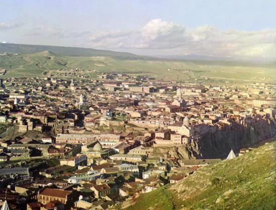 19世纪末、20世纪初的第比利斯老城