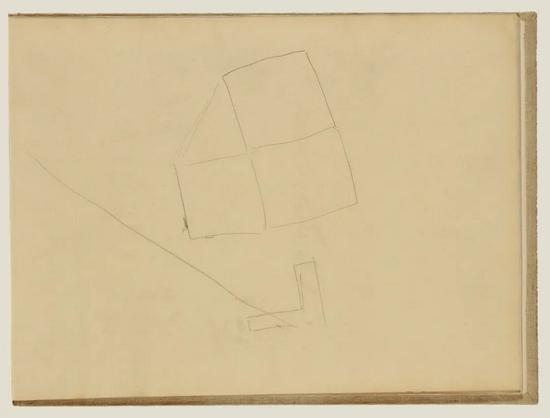 《抽象线条》,约1877年,埃德加·德加。The J。 Paul Getty Museum, 95.GD.35.29