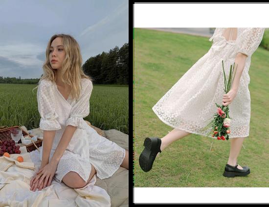 女生必备一条小白裙 穿十年都不会过时