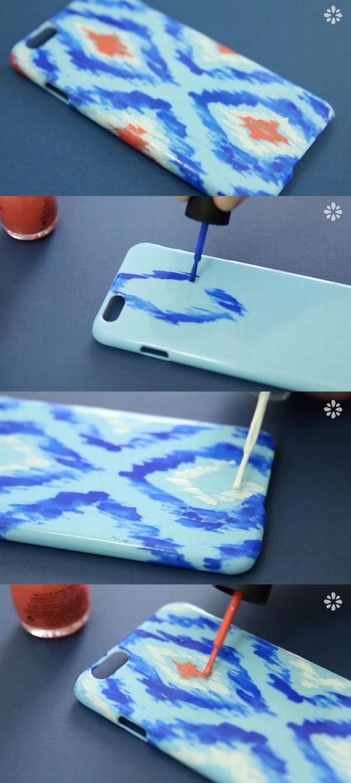 指甲油DIY手机壳 图片源自ryanscott2go.com
