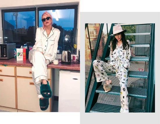 时髦星人就是穿睡衣也要与众不同