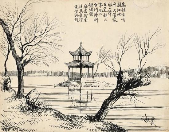 天工清新:刘海粟早年钢笔写生画