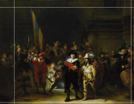 修复专家复原1715年《夜巡》被裁剪的情况