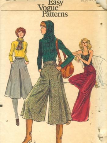 1970年代的阔腿裤 图片来源:Vogue