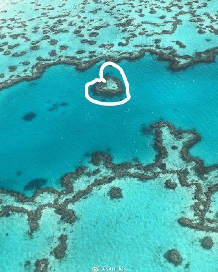 飞机1小时,观赏10秒钟的心形礁
