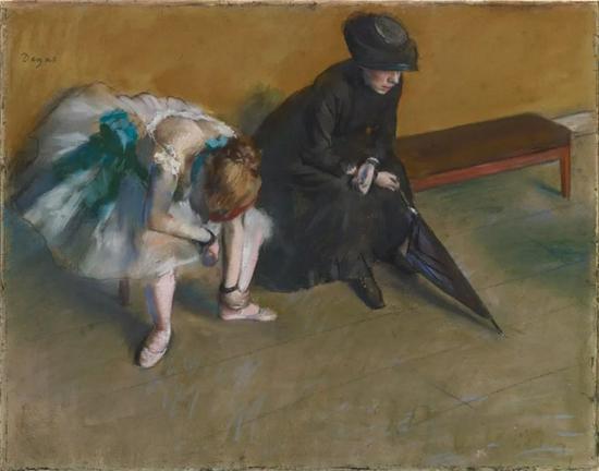 《等待》,约1882年,埃德加·德加。The J。 Paul Getty Museum, 83.GG.219