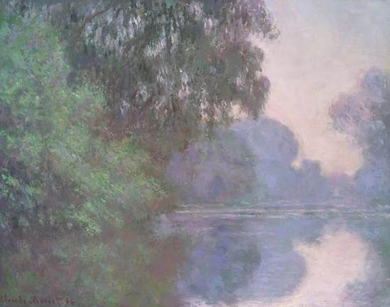莫奈 《塞纳河清晨》 1896