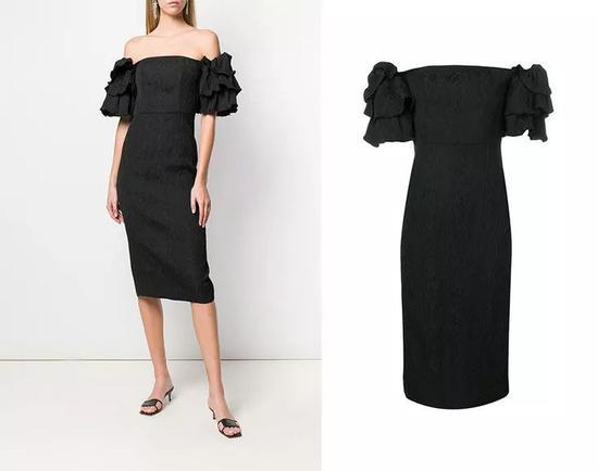 Alexa Chung泡泡袖连衣裙