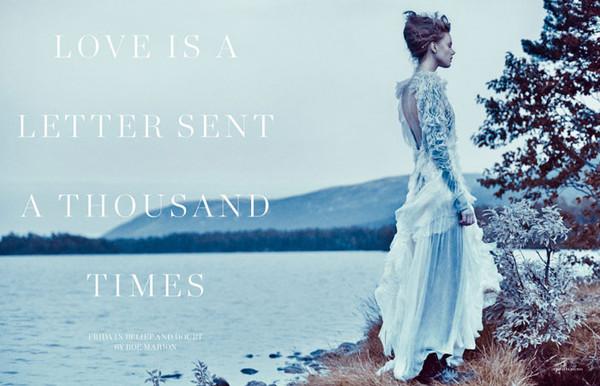 超模弗丽达·古斯塔夫松 (Frida Gustavsson) 演绎《Scandinavia S/S/A/W》杂志2014年春夏刊时尚大片