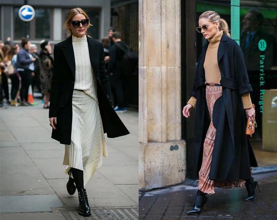 大衣+裙子 最好看的穿法就看这一篇