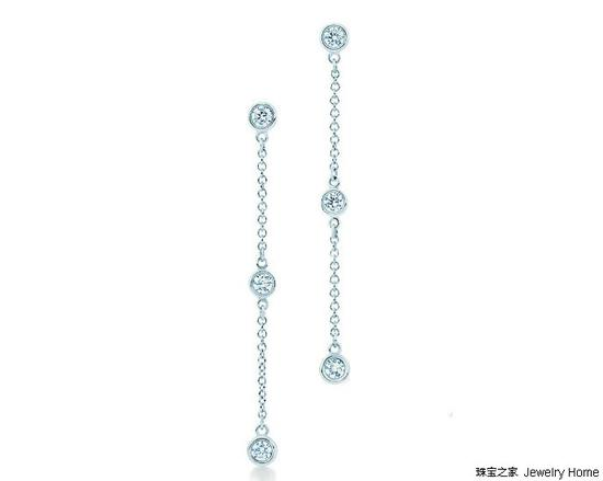 Tiffany & Co. 蒂芙尼 Elsa Peretti™系列 Diamonds By The Yard™耳坠