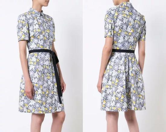 单品推荐:Carolina Herrera印花裙 16455元(图片来源于品牌官网)