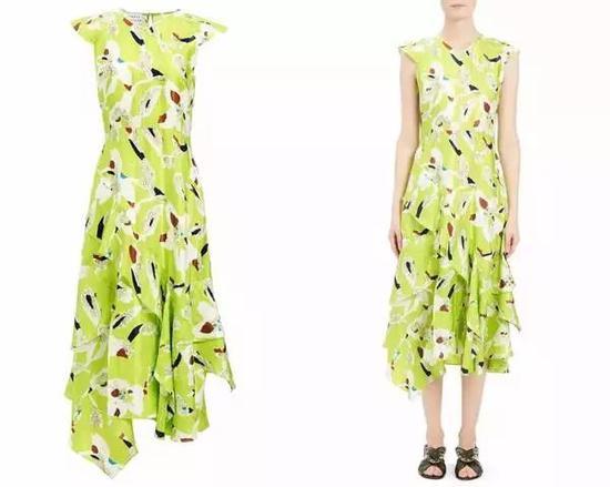 单品推荐:Tanya Taylor黄色印花裙 1828元 (图片来源于品牌官网)