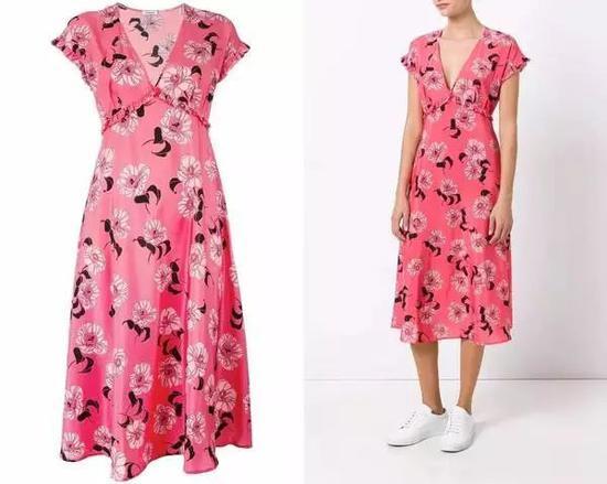 单品推荐:P.A.R.O.S.H。印花裹身裙 4104元(图片来源于品牌官网)
