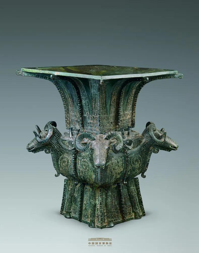 商代·四羊青铜方尊,中国国家博物馆藏