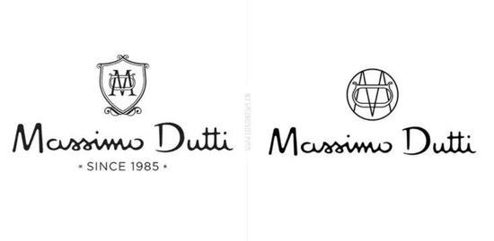 今年年初,Zara与Massimo Dutti先后更换了全新Logo