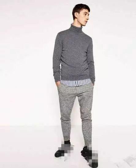男士毛衣针织衫怎么搭配裤子?