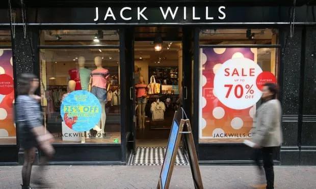 又一家英国高街品牌陷入困境 Jack Wills被低价收购