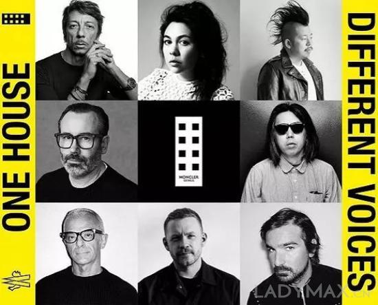 """持续寻求提高时尚度,图为""""Moncler Genius""""去年邀请的 8 位设计师"""