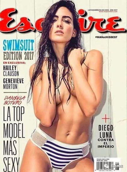 哥伦比亚名模Daniela Botero登《esquire》封面