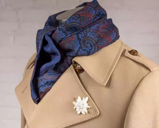 Fort Belvedere 的双面羊毛丝线围巾