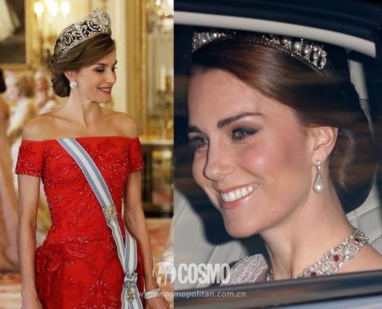 莱蒂齐亚的冠冕是具有百年历史的Fleur de Lys传家宝钻石王冠