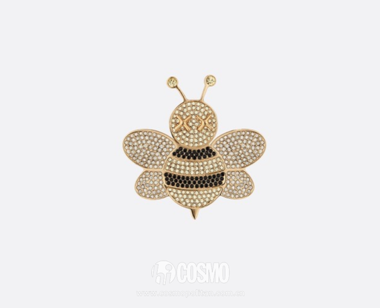 DIOR X KAWS水晶黄铜蜜蜂胸针