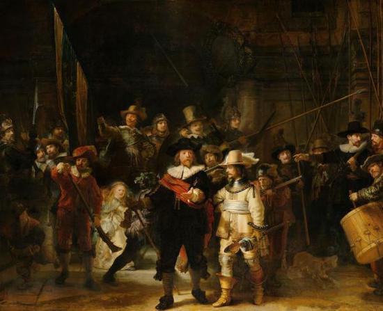 《夜巡》,伦勃朗,1642年