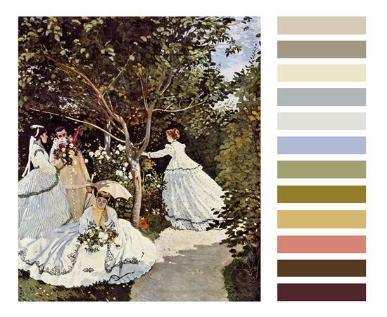 油画中的流行色彩,高级印象派配色穿搭