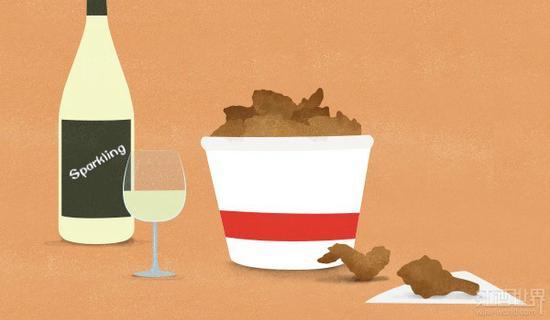 当炸鸡邂逅葡萄酒