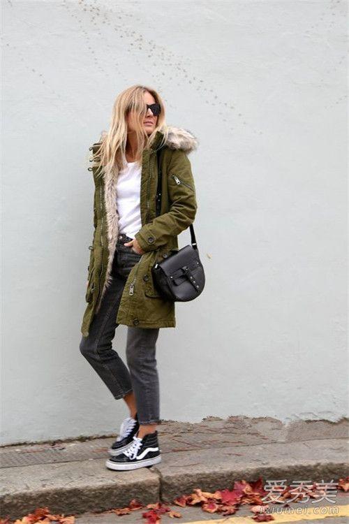 保暖又时髦!冬季有这件派克大衣就行了 派克大衣搭配