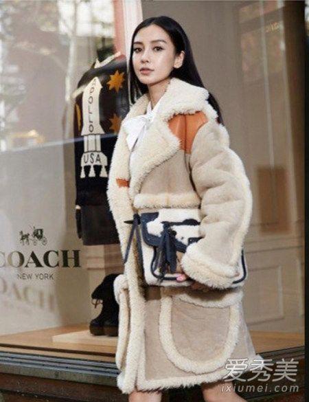 杨幂baby都在穿 冬季绝对少不了的羊羔绒外套 明星街拍图片