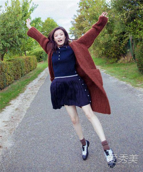美女都爱长版针织外套
