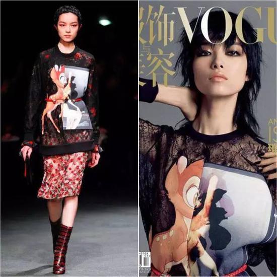 同年12月的日本版《VOGUE》封面,又是Daria Strokous来演绎了一遍。