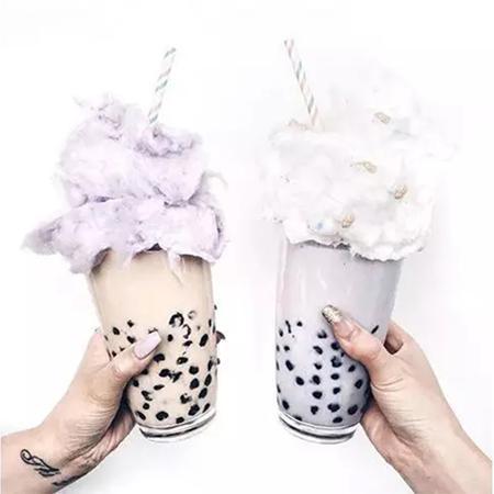 刷爆Instagram的网红奶茶,搭配韩式棉花糖